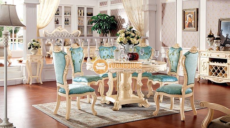 Bộ bàn ghế phong ăn cao cấp kiểu dáng sang trọng JHQ R1102