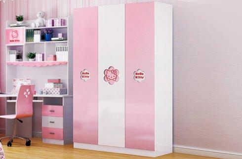 Tủ quần áo cho bé gái công chúa sắc hồng tinh tế