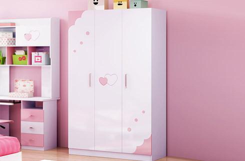 Tủ quần áo cho bé gái phong cách Hàn Quốc thiết kế trẻ trung, hiện đại
