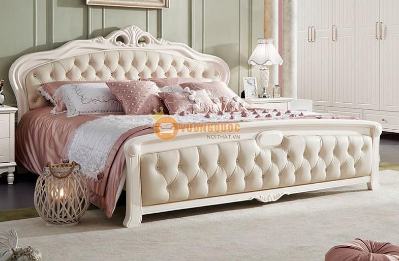 Bộ giường ngủ gỗ công nghiệp cao cấp JY871G