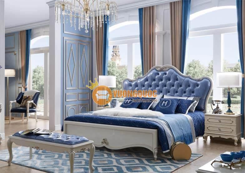 Giường ngủ màu xanh dương TSP T503G