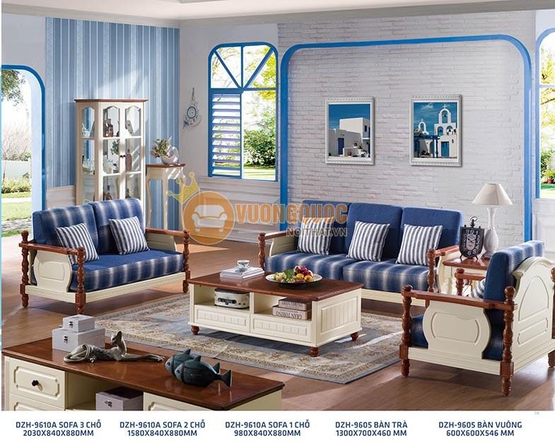 Sofa gỗ phòng khách hiện đại kiểu dáng thanh lịch DZH 9610A