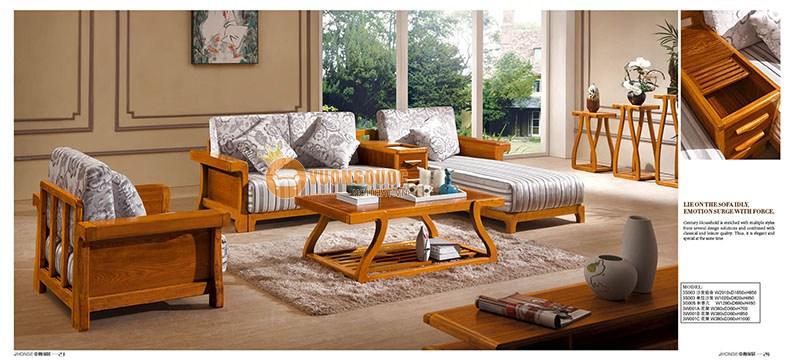 Sofa phòng khách gỗ thật cao cấp CNS3S003