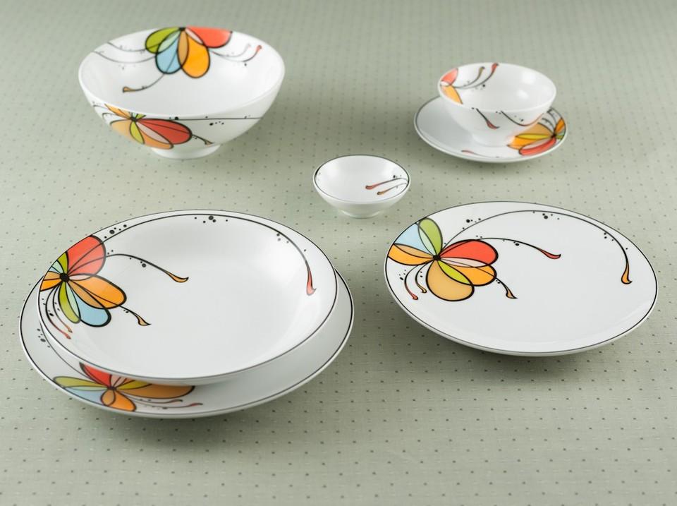 Bộ bát đĩa Hàn Quốc họa tiết tinh tế