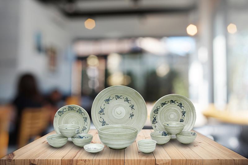 Bộ bát đĩa Hàn Quốc thiết kế đơn giản