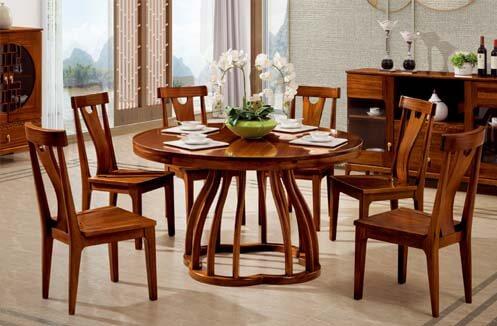 Bàn ghế ăn gỗ - đa dạng về thiết kế