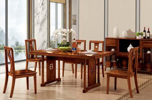 Bàn ghế ăn gỗ kiểu dáng đơn giản