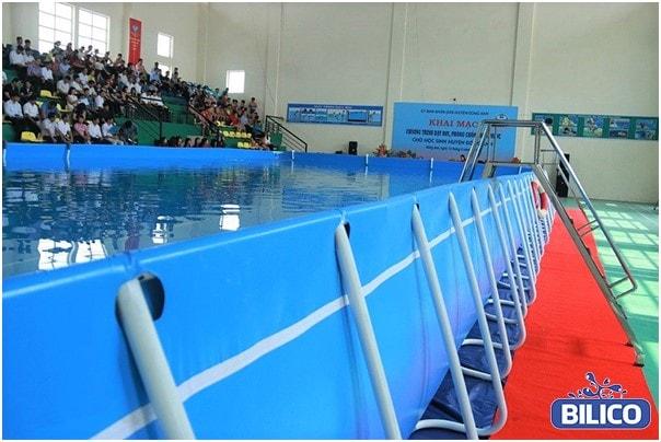Lắp đặt bể bơi bạt - Lắp đặt bể bơi di động - Bilico